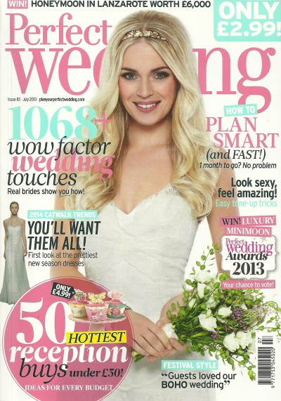 Perfect Wedding cover July 13